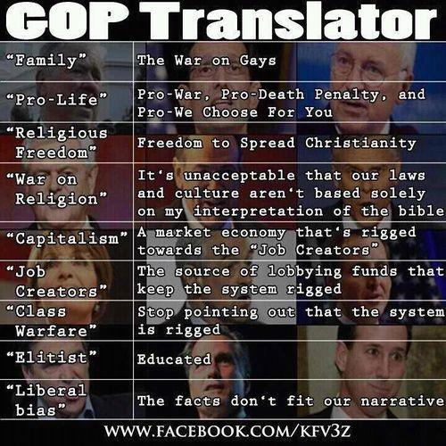 GOP translator....