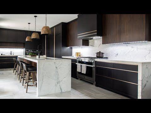Home Tour Luxe Dark Modern Kitchen Youtube Interior Design Kitchen Modern Kitchen Design Kitchen Interior Design Modern