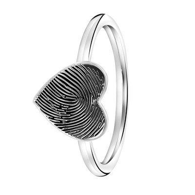 ring met vingerafdruk print