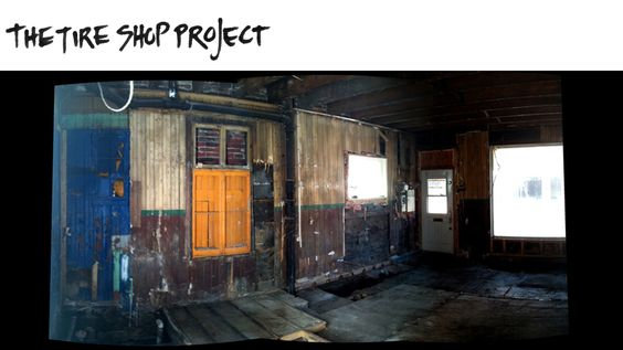 "SLIDE 7: (BEFORE detail) Mark+Vivi, #renovation project 1 > ""The Tire Shop"" located in Verdun, QC 