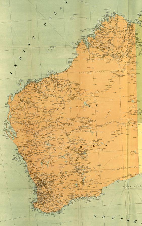 Australia 1916 western australia Maps World map Old world maps – Explore Australia Map