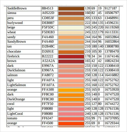 The Brown Hair Color Scheme Palette Has 5 Colors Which Are Root