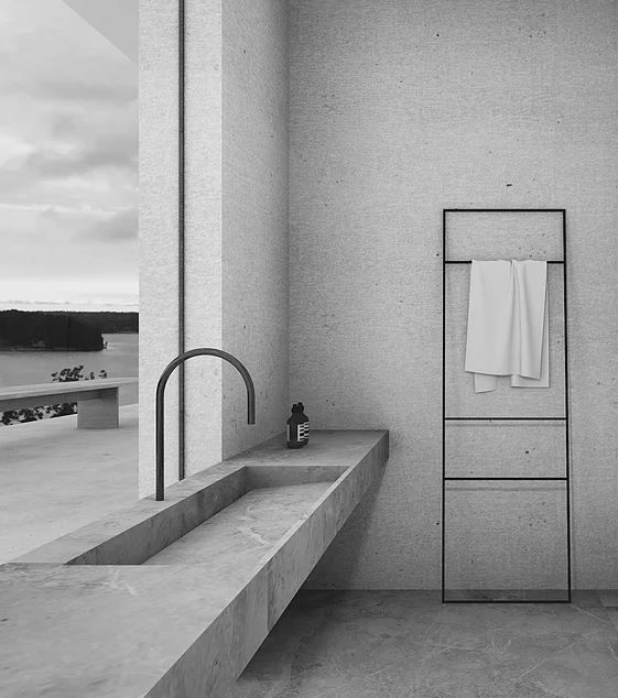 Superbe Minimalist Bathroom With Concrete Sink And Bath Tub, By John Pawson. Baron  House. | Bathroom Interiors | Pinterest | Minimalist Bathroom, Concrete  Sink And ...