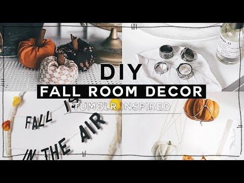 Diy Fall Room Decor 2017 Minimal Tumblr Inspired For
