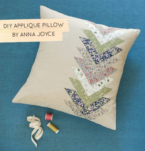 DIY Spring Applique Pillow by Anna Joyce - Design*Sponge #handmade