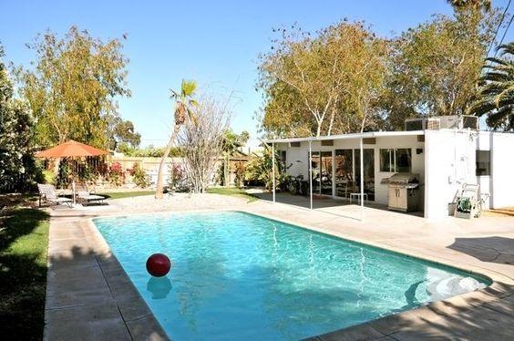 Racquet Club Estates Vacation Rental - VRBO 342052 - 3 BR Palm Springs, North House in CA, Modern Organic Palmer & Krisel Alexander $240