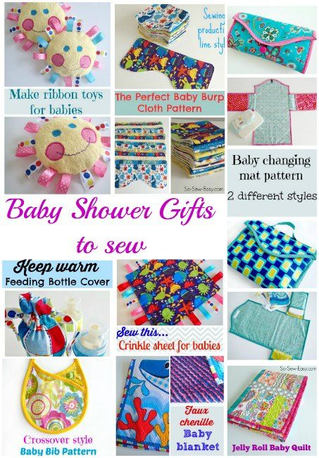 Sewing For Babies Baby Shower Gifts To Sew Sewing
