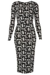 Scratch Graffiti Midi Dress