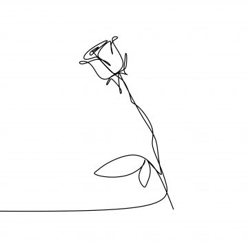 Line Art Drawing One Continuous Lineart Of A Hand Holding Minimalist Style One Lover Valentine Png Transparent Clipart Image And Psd File For Free Download Rose Line Art Line Art Flowers
