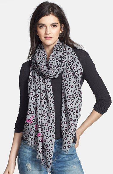 Free shipping and returns on kate spade new york 'cyber cheetah' scarf at Nordstrom.com. A smoky cheetah print lends feline flair to an airy wool scarf edged in a soft eyelash fringe.