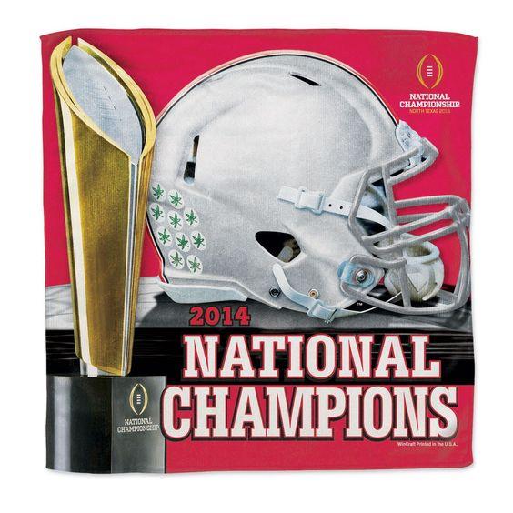 Ohio State Buckeyes 2014 College Football National Champions Micro Fiber Towel