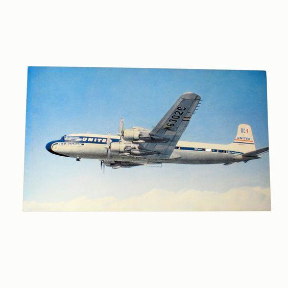 United Airlines Vintage Postcard