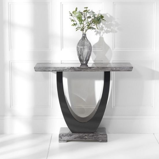 Allie Marble Console Table Rectangular In Dark Grey And Black Marble Console Table Console Table Table