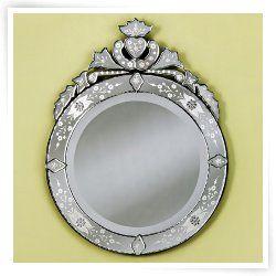 Large Cora Round Venetian Mirror - 31W x 38H in.