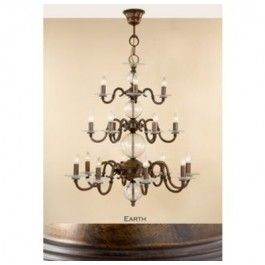 Lustrarte 362/18 Eighteen Light 3 Tier Chandelier from the Etrusca Collection