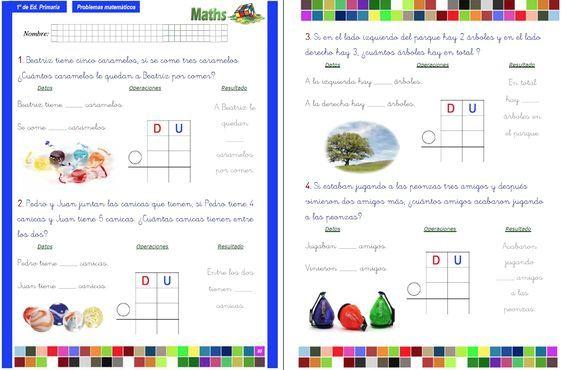 Colección De Problemas Para 1º De Primaria En Pdf E Interactivos Ideales Para Pdi Matematicas Primero De Primaria Problemas Matemáticos Primaria Matematicas