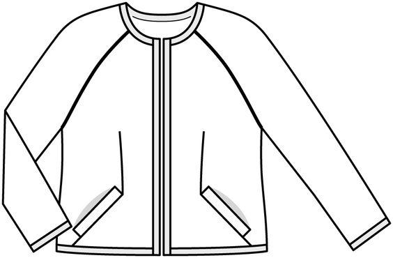 Kurtka w stylu Chanel - liczba Wzór 424 magazynu 2/2015 Burda. Moda pełna - wzory na kurtki Burdastyle.ru