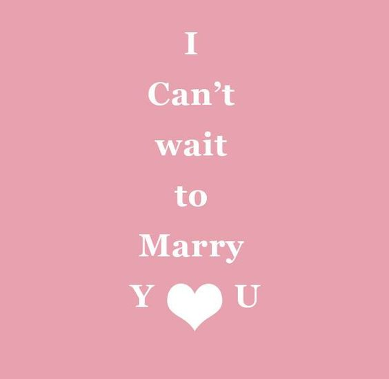 I Can't wait to Marry You | Confetti.co.uk