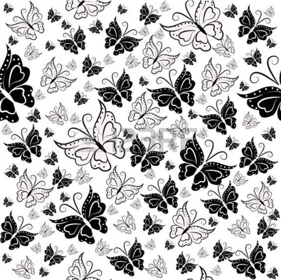 Papel decorativo blanco y negro de corazones buscar con - Decoracion blanco y negro ...