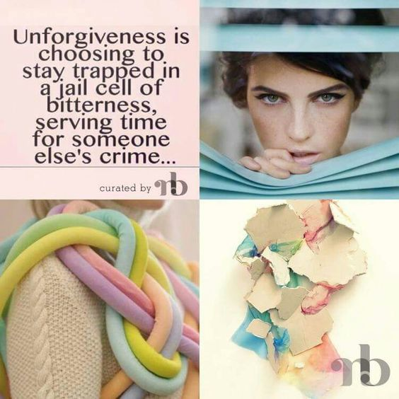 Unforgiveness is choosing to stay trap in a jail cell of bitterness, serving time for someone else's crime.◙✽