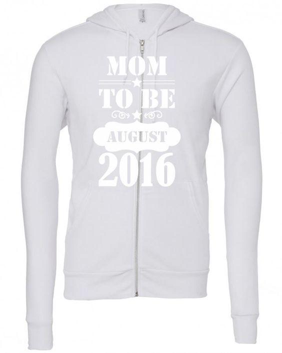 mom to be august 2016 1 Zipper Hoodie