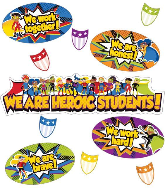 Students and more student products bulletin boards super powers minis