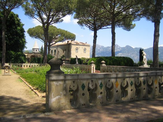 The gardens around Villa Cimbrone in Ravello, Italy along the Amalfi Coast are spectacular, as are the views.