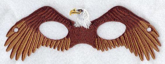 Eagle Mask Machine Embroidery Design