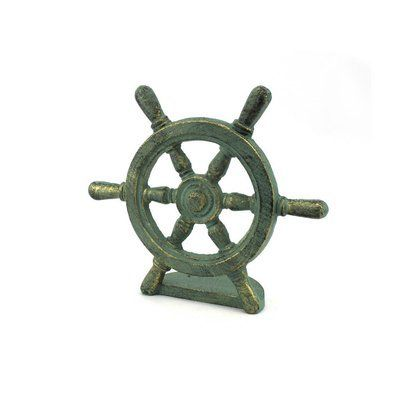 Handcrafted Nautical Decor Iron Weighted Floor Stop Wayfair 1000 Nautical Decor Door Stopper Wheel Decor