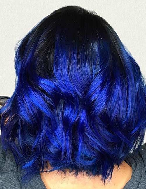 20 Beautiful Styling Ideas For Blue Ombre Hair Blue Ombre Hair