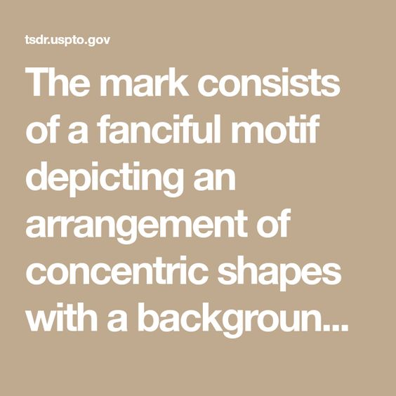 The Mark Consists Of A Fanciful Motif Depicting An Arrangement Of