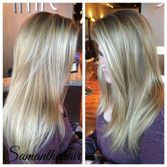 Blonde Balayage ! Natural looking blonde hair! Instagram @ SamRHairLife