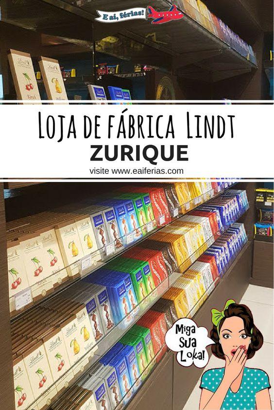 Visitando a loja de fábrica da Lindt na Suíça