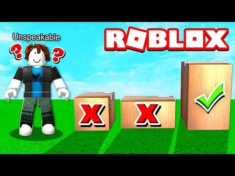 Dont Open The Wrong Box In Roblox Youtube Do Not Open - roblox videos unspeackabol gameing