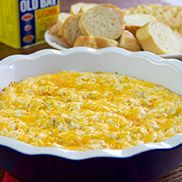 Old Bay Creamy Crab Dip...make with more than 1/4 c cheese (because that's like, a sprinkle), more Old Bay & a sprinkle of Worcestershire sauce...delicious
