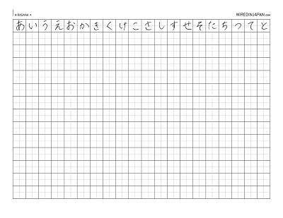 Hiragana Practice Worksheets - Sharebrowse