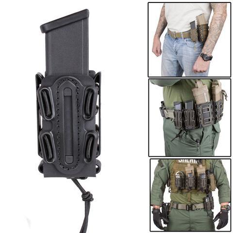 Flashlight Carrier Holster Bag Dagger Holder Tactical Molle Magazine Mag Pouch