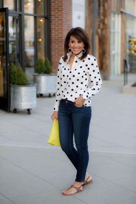 Passou dos 50? Veja 50 looks com calça jeans para você se inspirar | Blog da Mari Calegari
