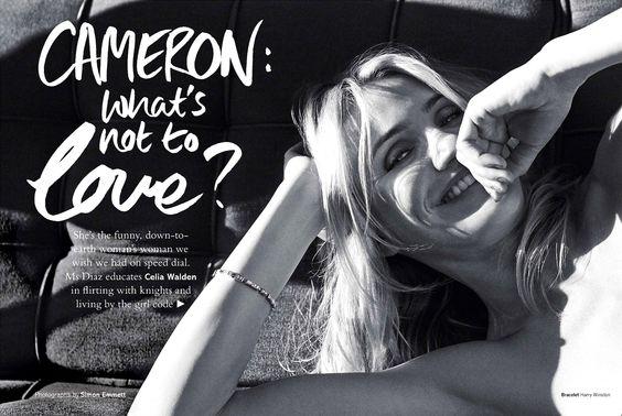 ☆ Cameron Diaz | Photography by Simon Emmett | For Glamour Magazine UK | May 2014 ☆ #Cameron_Diaz #Simon_Emmett #Glamour_Magazine #2014