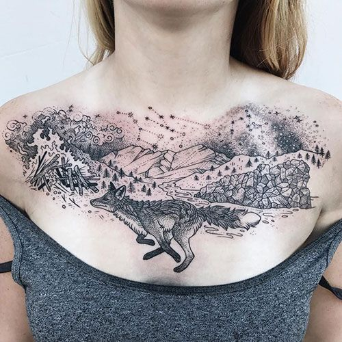 101 Best Chest Tattoos For Women 2020 Guide In 2020 Chest Tattoos For Women Chest Piece Tattoos Cool Chest Tattoos