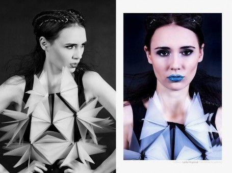 Leila Hujeirat #texture #origami #avantgarde #couture