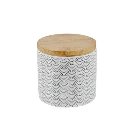 Boite Ceramique Okino Noir Et Blanc Leroy Merlin Ceramique Accessoires Salle De Bain Noir Et Blanc