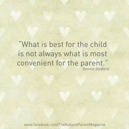 Its about putting what is more important first and understanding that as parents we are molding the adult of the future. Cut corners now and regreat it later.