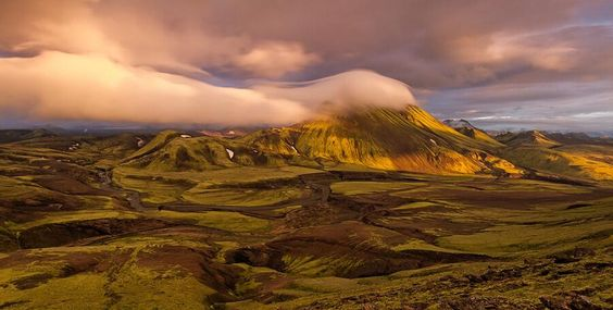 View from Mt. Bratthals, Alftavatn, Iceland by Sven Broeckx