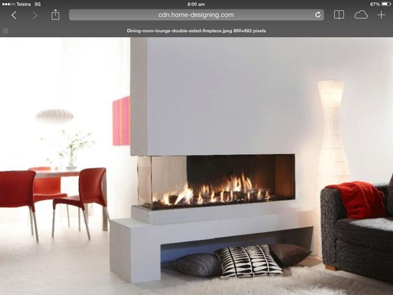 Fireplaces and chang 39 e 3 on pinterest for Three way fireplace