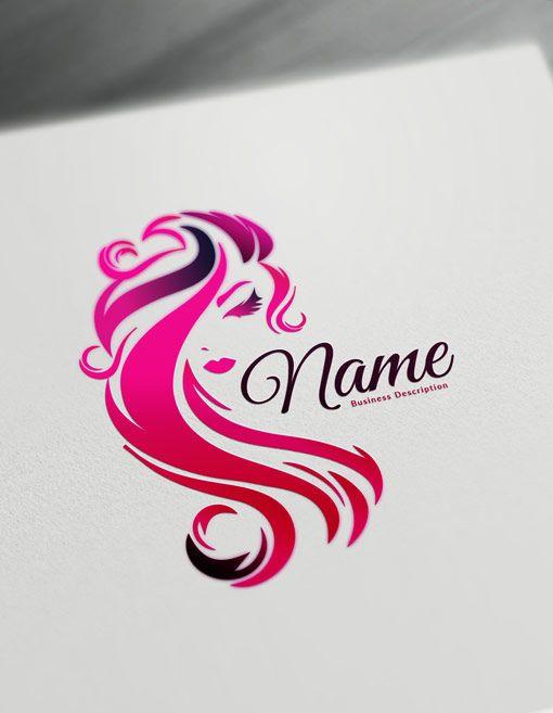 Beauty Logo Maker Free Logo Design Templates Face Hair Logos Logo Maker Free Hair Logo Design Salon Logo Design