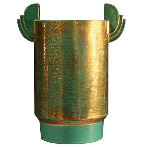 Copper Craquelure Lustre Vase by Marcel Guillard, 1927.