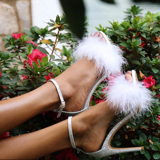 Ecstasy Models — ecstasymodels: Fluffy Heels By House Of Cwēns
