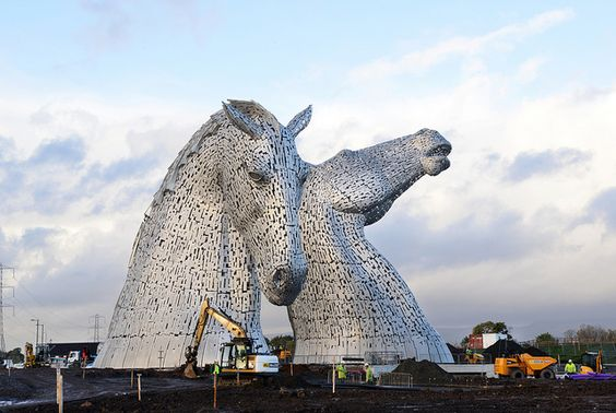 Kelpies 13 010 by Falkirk Council Image Library, via Flickr