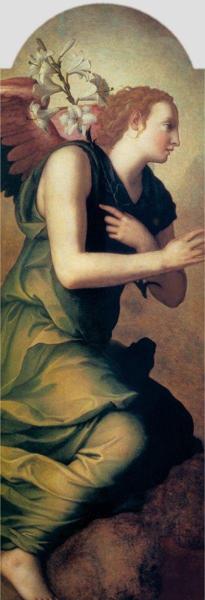 Angelo Bronzino, Angelo di Cosimo di Mariano (1503-1572) — Angel of the Annunciation, 1555   (410x1200):